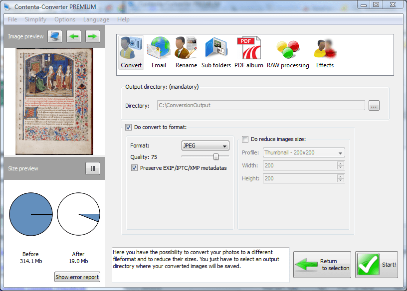 Click to view Contenta RAW Converter 5.9 screenshot